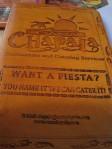 Chapala Leather Menu